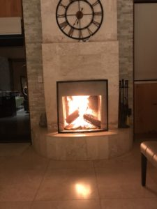 fireplace tiled by leerbergtiling